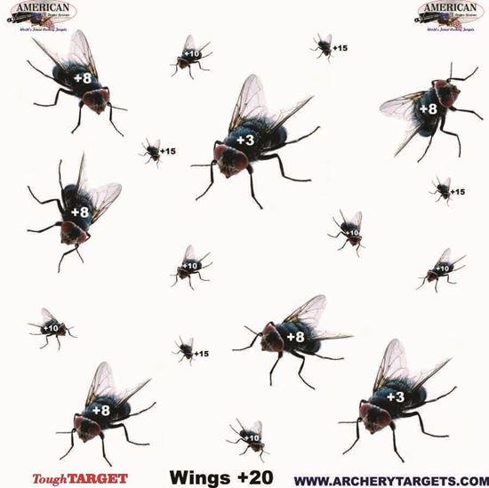Picture of Set of Five Flies Faces