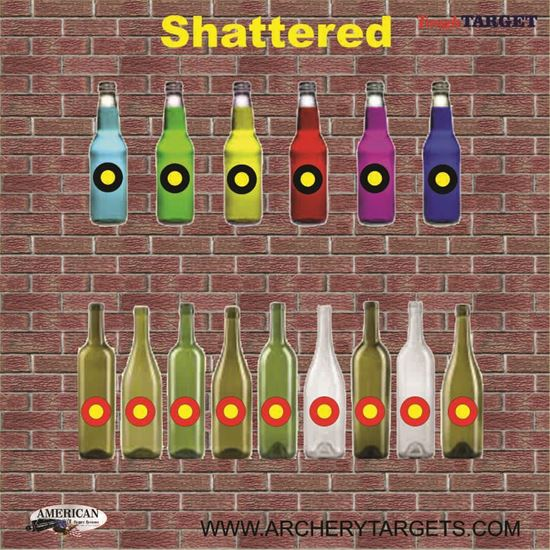 Picture of Set of FIVE Shattered Bottles Game