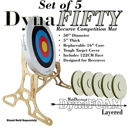 Picture of Set of FIVE Dyna Fifty Competition Targets