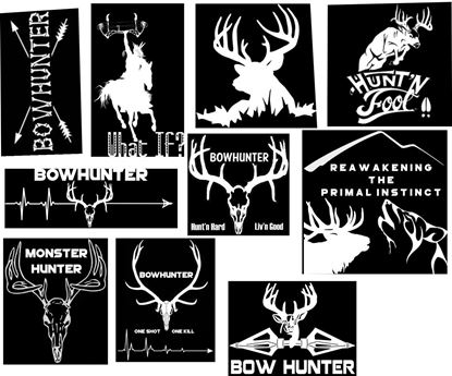 Picture of 10 Bowhunter Decal Set