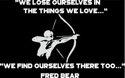 Picture of Fred Bear Bowhunter Quote Decal